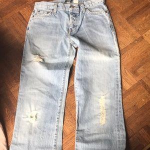 NWT J crew destroyed boy cut jeans